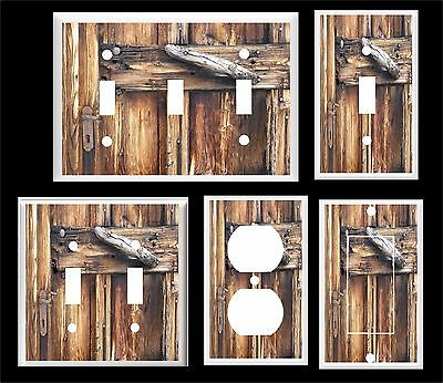 Rustic Country Barn Door Image Light Switch Cover Plate      Home Decor