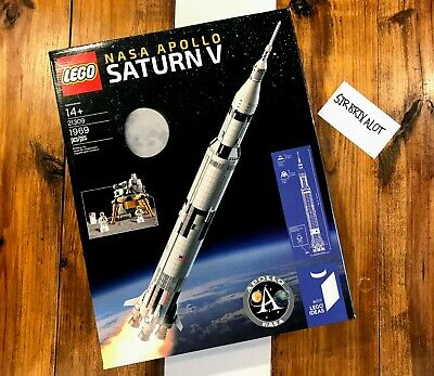 Retired LEGO Ideas 21309 NASA Apollo Saturn V NEW Sealed Fast Free FedEx Ship