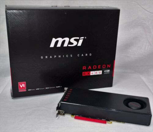 MSI AMD Radeon RX 480 4GB GDDR5 Reference Model Graphic Card - Used