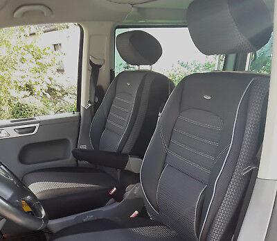 Maßgefertigter Busbezuge//Vordersitzbezüge für VW T6 Multivan Design ROT.