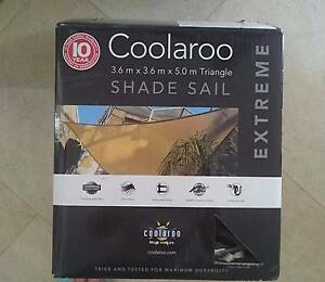 Shade Sail Coolaroo Beige 3.6m × 3.6m × 5.0m Tirangle Extreme Cannington Canning Area Preview