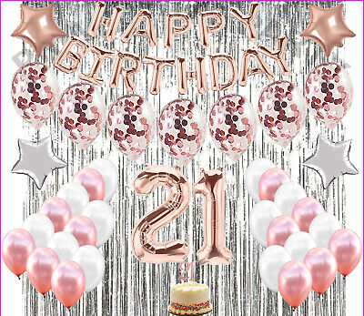 Gold Party Supplies (21St Birthday Decorations 21 Party Decoration Balloons Supplies ROSE)