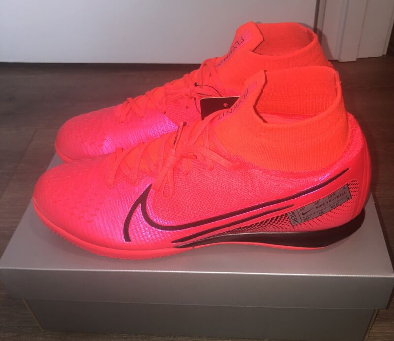 Nike Superfly 7 Elite IC Indoor Court Mecurial Crimson Black AT7982-606 Sz 10.5