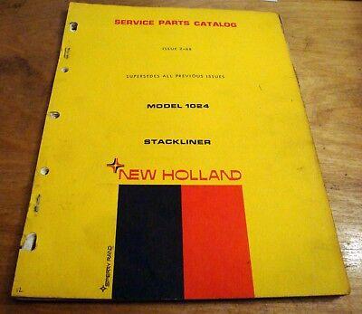 New Holland 1024 Bale Wagon Stackliner Parts Catalog Book List Manual Nh