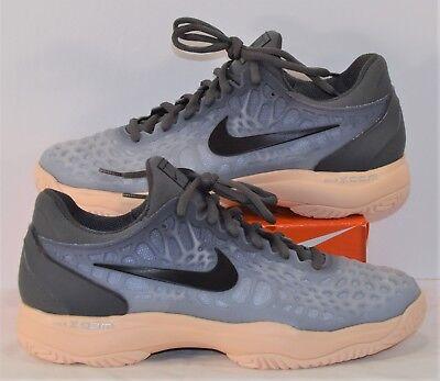 b7696a8cc37 Nike Air Zoom Cage 3 HC Dark Grey   Orange Tennis Shoes Sz 8.5 NEW 918199  001