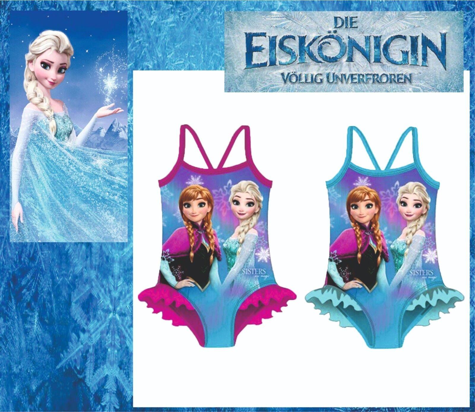 Eiskönigin Frozen Anna Elsa Badeanzug Bikini Tankini Kinder Disney 92-116