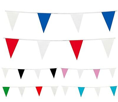 BUNTING Red Blue Pink White Flags Wedding Birthday 33ft 20 Flag Home