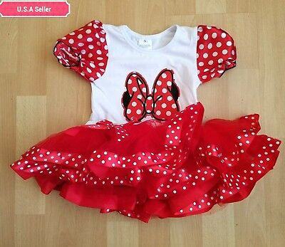 Cute Minnie Mouse Baby Girl Birthday Party Outfit Dress 1year to 3year](Minnie Mouse Outfit Baby)