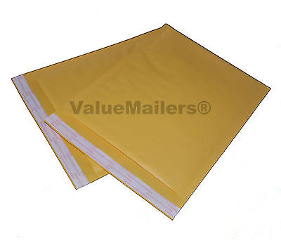 100 5 Vm Terminator Kraft Bubble Mailers Envelopes 10.5x16 200 9x12 Bags