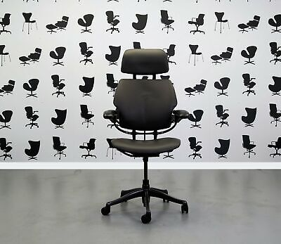 Refurbished Humanscale Freedom High Back Task Chair - Newmarket Grigio Leathe...