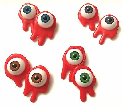Clockwork Orange Alex Droog Halloween Fancy Dress Eyeball Cufflinks Bloody 70's