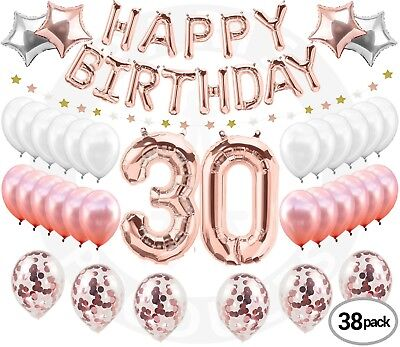 30th Birthday Decorations Rose Gold 30 Birthday Party Supplies Dirty 30 Thirty](30th Party Balloons)