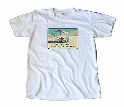 White Sands New Mexico National Monument Vintage Travel Decal T Shirt   Tularosa