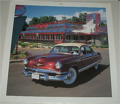 Used, 1953 Kaiser Dragon 4 dr sedan car print (orange & white) for sale  Shipping to Canada