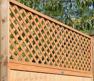 FSC Trellis Fence Panel Diamond Lattice Heavy Duty Double Framed 1.8m x 60cm