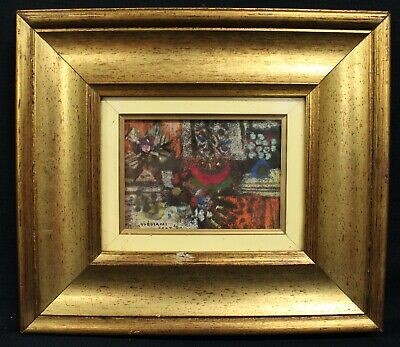 Luciano Valia (Torino 1929-1992) / Oil On Cardboard/Signed & Dated 1982