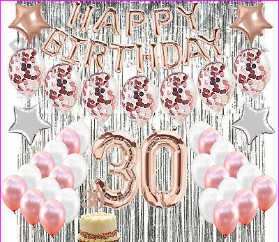 30th Birthday Decor (30th Birthday Decorations Rose Gold 30 Birthday Party Supplies dirty 30 party)