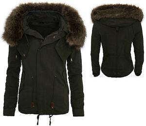 Mujer-Parka-chaqueta-de-invierno-capucha-con-Piel-Artificial-Abrigo-Outdoor-d-48