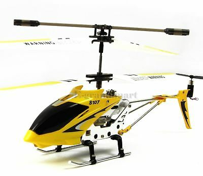 Cheerwing S107 S107G Remote Control RC Helicopter Alloy Copter with Gyro Yellow for sale  USA