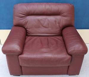 *FREE DELIVERY. Genuine Leather MORAN ARMCHAIR Noble Park Greater Dandenong Preview