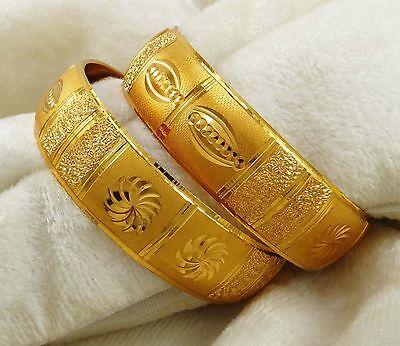 New 18K Goldplated Bangle Set Indian Ethnic Bracelets Traditional Jewelry 2*10