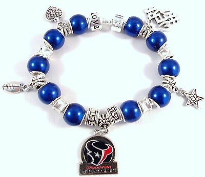 Buy Official Nfl Football - Official NFL HOUSTON TEXANS Football on Silver Charm Bracelet BEAUTIFUL BARGAIN!