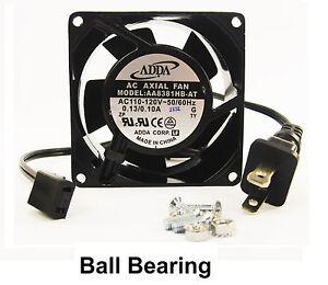 80mm 38mm New Case Cabinet Fan 110V 115V 120V AC 31CFM Ball Bg Cooling 8038 362*