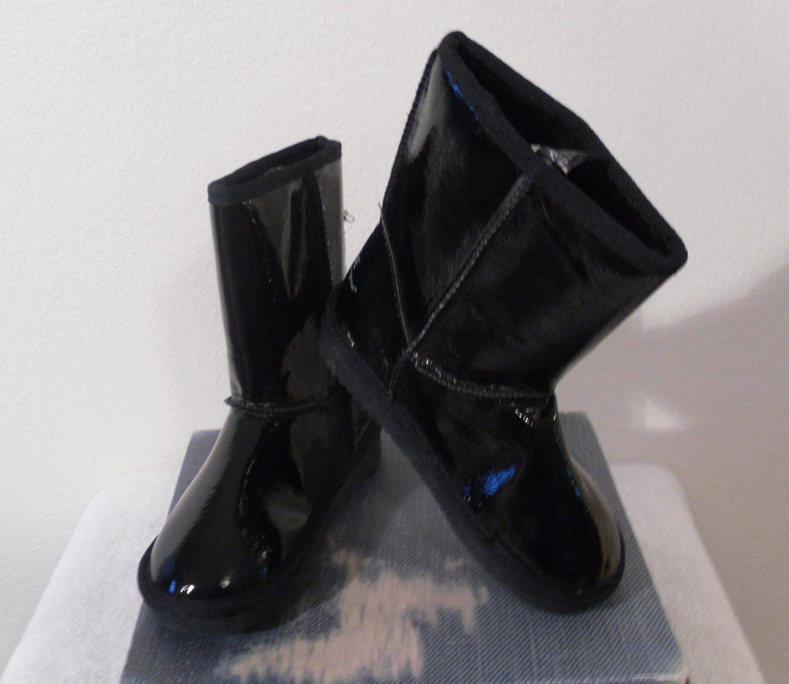 NIB Zodiac Tricia Girls Faux Shearling Lined Mid Calf Boots 5 Black MSRP$60