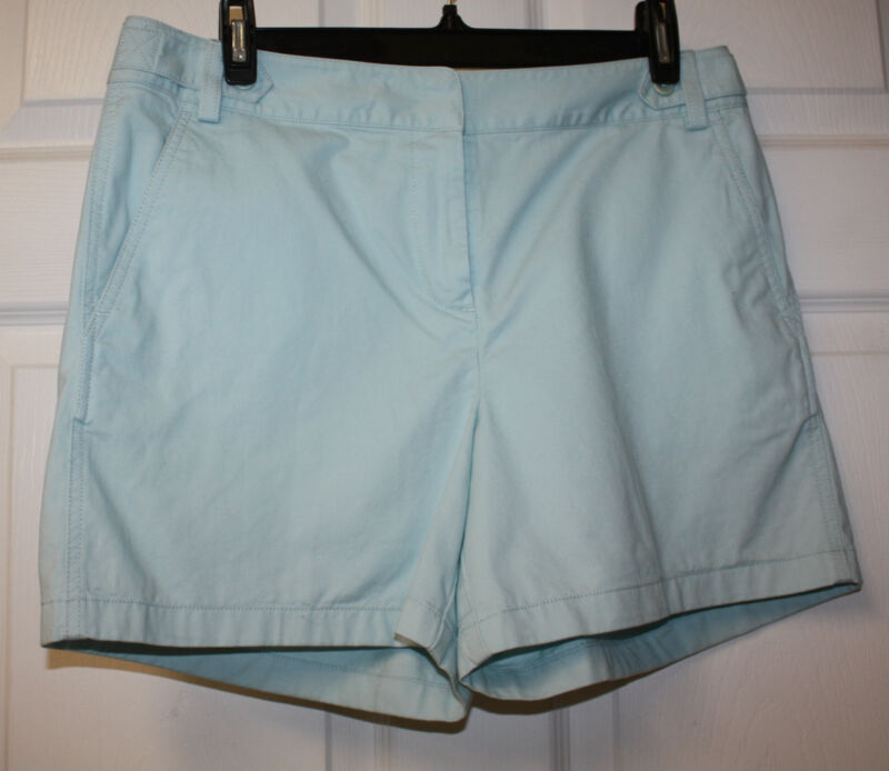 Womens Ladies NWT Ann Taylor Hampton Fit Aqua Shorts Size 6