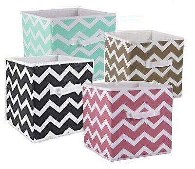 Storage Cube Basket Fabric Drawers Best Cubby Organizer Box Bin 2 Pack 18 Colors](Cube Storage Baskets)