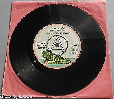 "Richard And Linda Thompson - Hokey Pokey 1974 A Label 7"" Single"