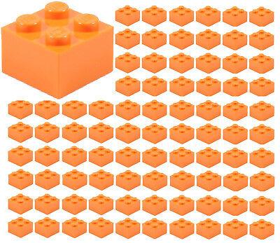 ☀️100x NEW LEGO 2x2 ORANGE Bricks (ID 3003) BULK Parts Pumpkin Halloween City - Orange City Halloween