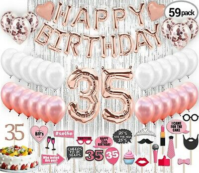 35th Birthday Decorations with Photo Props | 35 Birthday Party Supplies | 35 Cak](Birthday Decoration With Balloons)