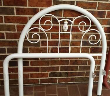 White Wrought Iron Bed
