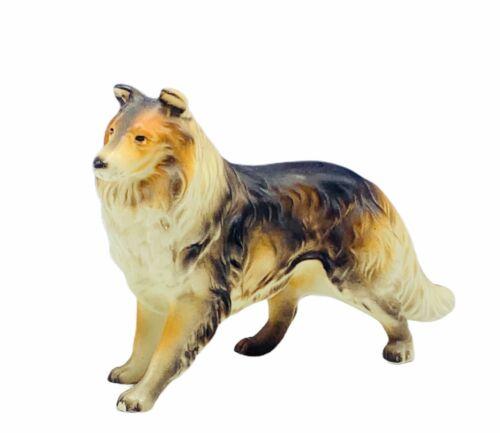 Collie figurine puppy dog sculpture Japan vtg porcelain statue gift decor Lassie