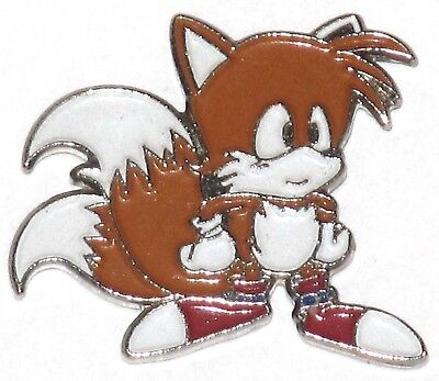 SEGA SONIC TAILS THE FOX RARE VARIANT PIN BADGE! 1991 HEDGEHOG PROMO PINS MERCH](Sonic Tails The Fox)