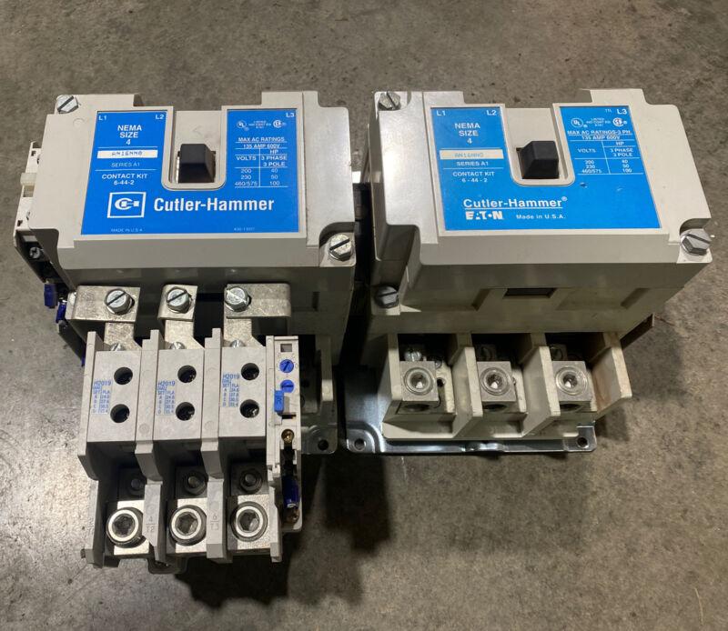 Cutler Hammer Reversing Motor Starter AN16NN0 Size 4 135 Amp 600 Volt 120V Coil