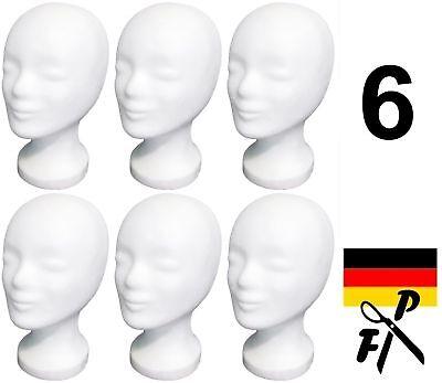 6 x FP Styroporkopf Perückenkopf - Markenqualität aus Deutschland