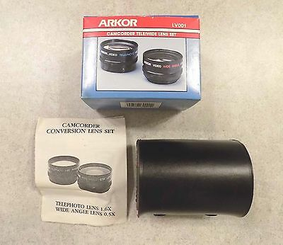 Arkor LV001 Camcorder Telephoto/Wide Angle Lens Set - Japan - FREE SHIPPING