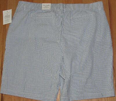 Croft & Barrow classic seersucker bermuda chino shorts NWT womens' 18 -