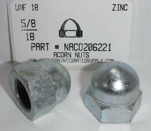 5/8-18 Acorn Cap Nuts Steel Zinc Plated (2)