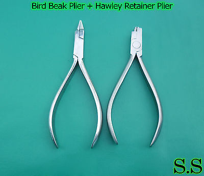 Set Of 2 Bird Beak Plier Hawley Retainer Plier Ortodontic Instruments