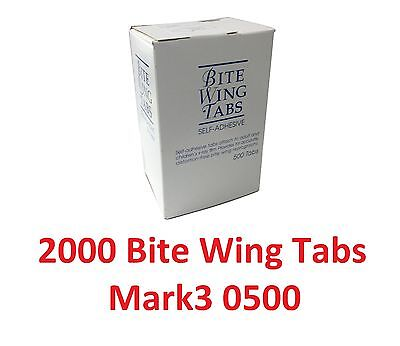 2000 Dental X-ray Film Bite Wing Tabs Mark3 0500 Self-adhesive Pressure Type Fda