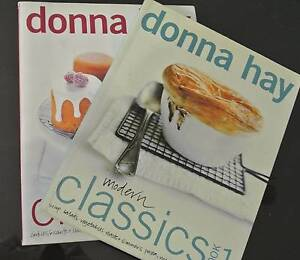 Donna Hay Modern Classics 1 & 2. Personally signed by Donna! Ourimbah Wyong Area Preview