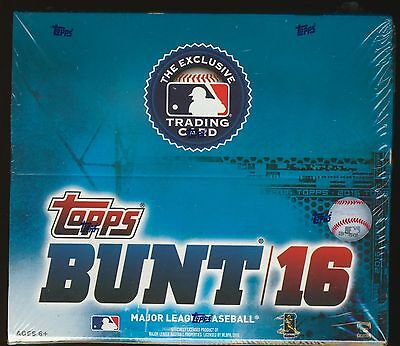 LOT of (2) 2016 Topps BUNT Baseball (PHYSICAL CARDS) SEALED 36-pack RETAIL BOXES
