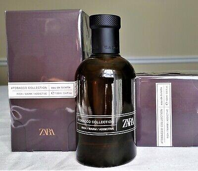 ZARA Mens Tobacco Collection RICH WARM ADDICTIVE EDT 100ml / 3.4 oz BNIB SEALED