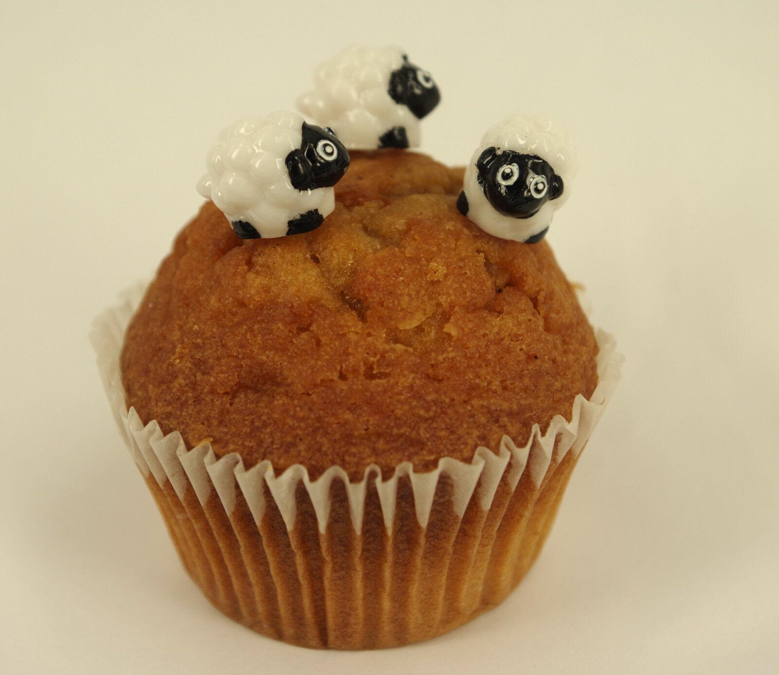 6 Ostern Schaf Lamb Plastik Cupcake Deckel Kuchen Dekoration Ebay
