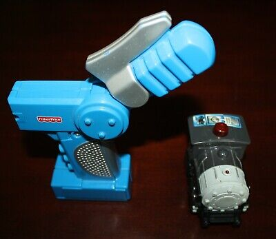 Fisher Price GeoTrax Remote Control Black Engine Train W Silver Front 2003 Works