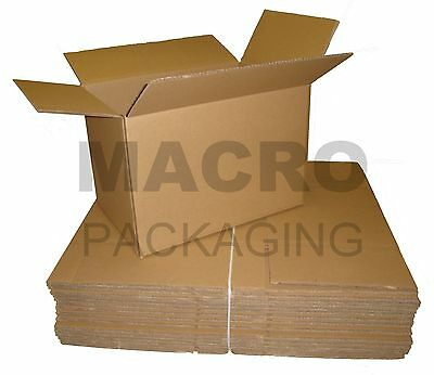 10 Removal Cardboard Packing Boxes 18 x 12 x 12 - DW