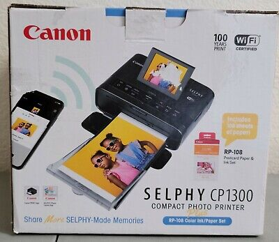 Canon Selphy CP1300 Compact Photo Color Printer RP-180